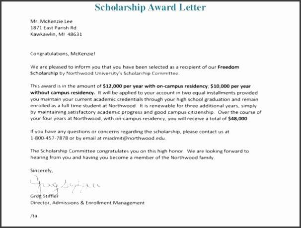 scholarship awarded letter thebridgesummit