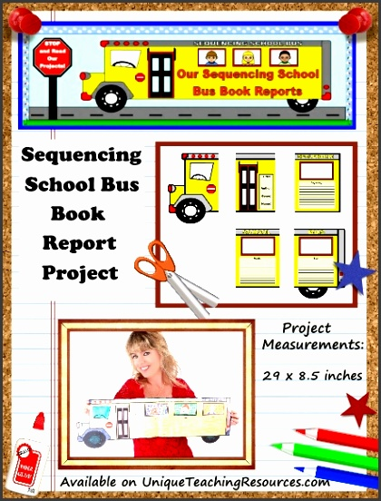 Fun Book Report Project Ideas Sequencing School Bus Templates