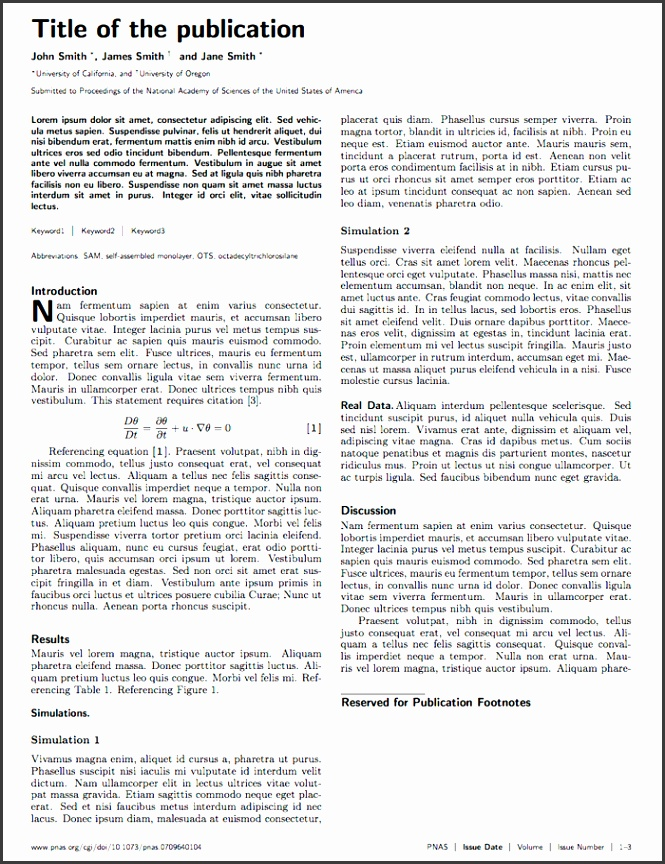presentation template for scholarly article latex templates academic journals