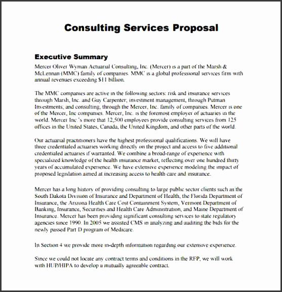 Service Proposal Template 7 Download Documents In PDF Word