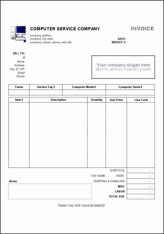 services receipt template
