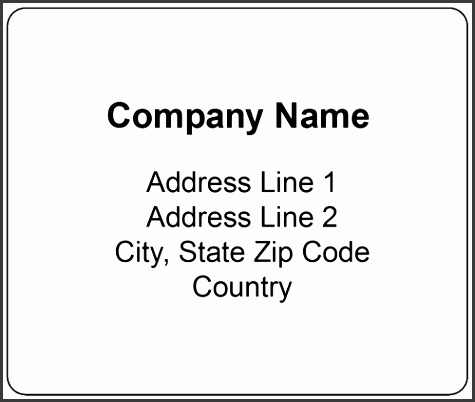 "OL150 4"" x 3 33"" Standard Shipping Label"
