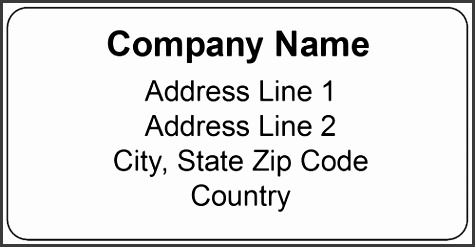 "OL125 4"" x 2"" Standard Shipping Label"