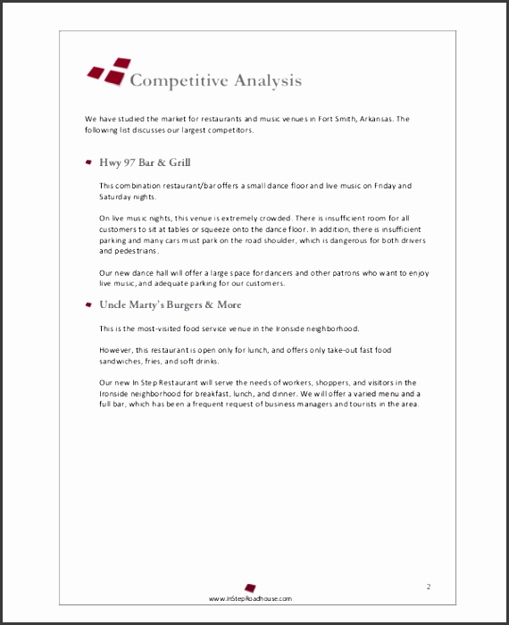 Restaurant Business Proposal Template