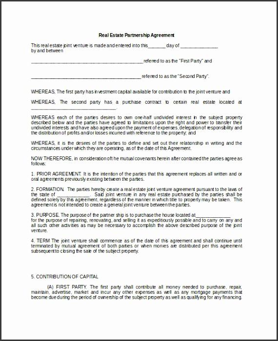 Real Estate General Partnership Agreement
