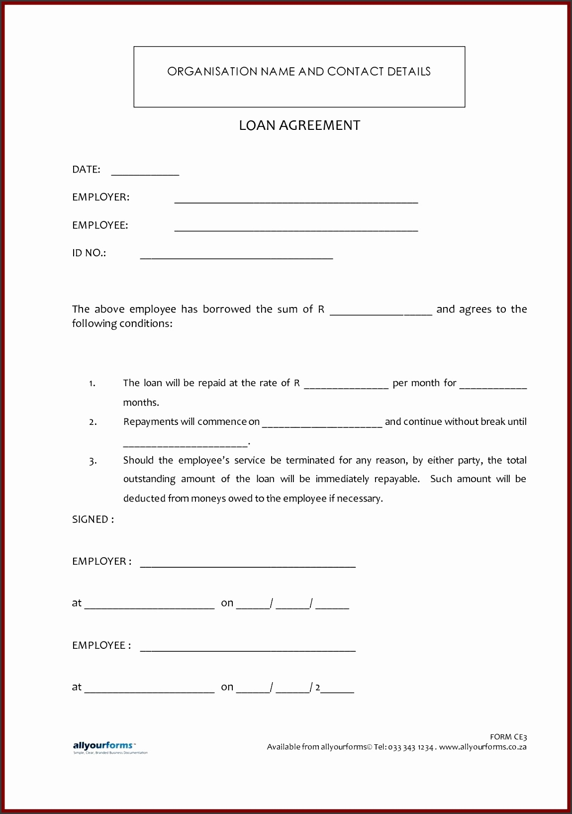 Free Loan Agreement Template Word Free Loan Agreement Template Uk Free Loan Agreement Template Microsoft Word