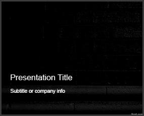 Free Dark Bricks PowerPoint Template