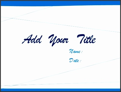 Simple white and blue Business PPT template 1