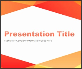 Abstract Angled PowerPoint Template with orange and red colors is another simple PowerPoint background for stunning