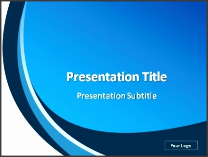 White and blue abstract background PowerPoint template preview
