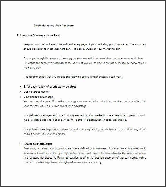 Small business plan template ultramodern depiction
