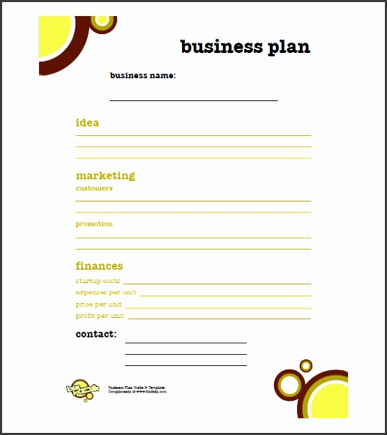 business plan simple business plan template