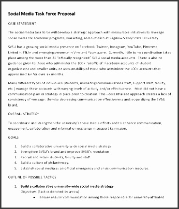 Social Media Proposal Lovely social Media Proposal Template 16 Free Word Pdf Documents