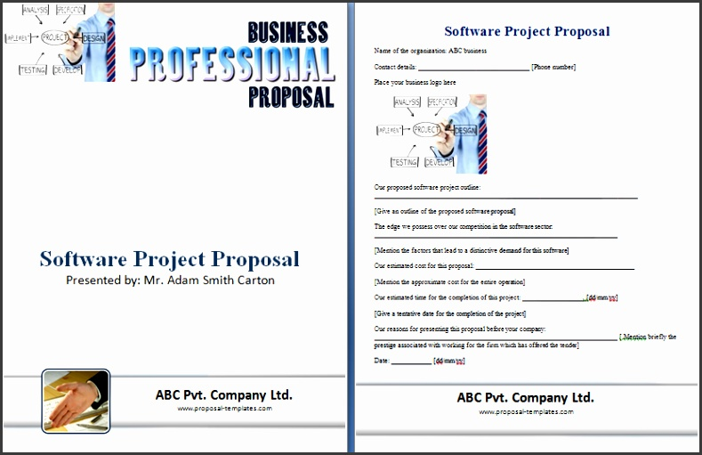 Software Business Proposal Template Software Project Proposal Template Free Proposal Templates