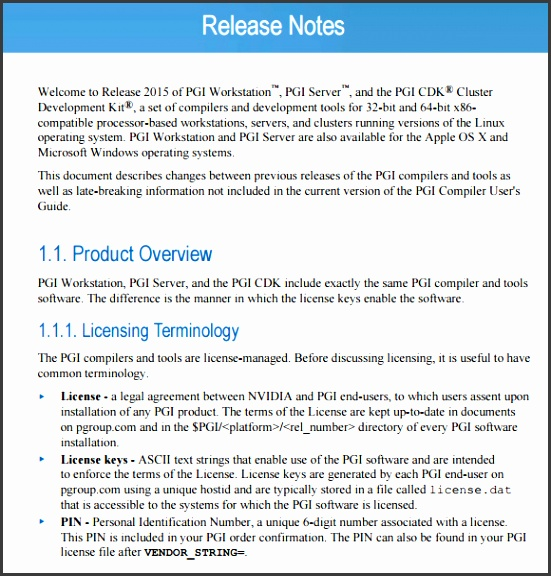 release notes sample Details File Format