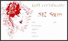 Spa Gift Certificate Template Printable Salon Free Best Free Home Design Idea & Inspiration