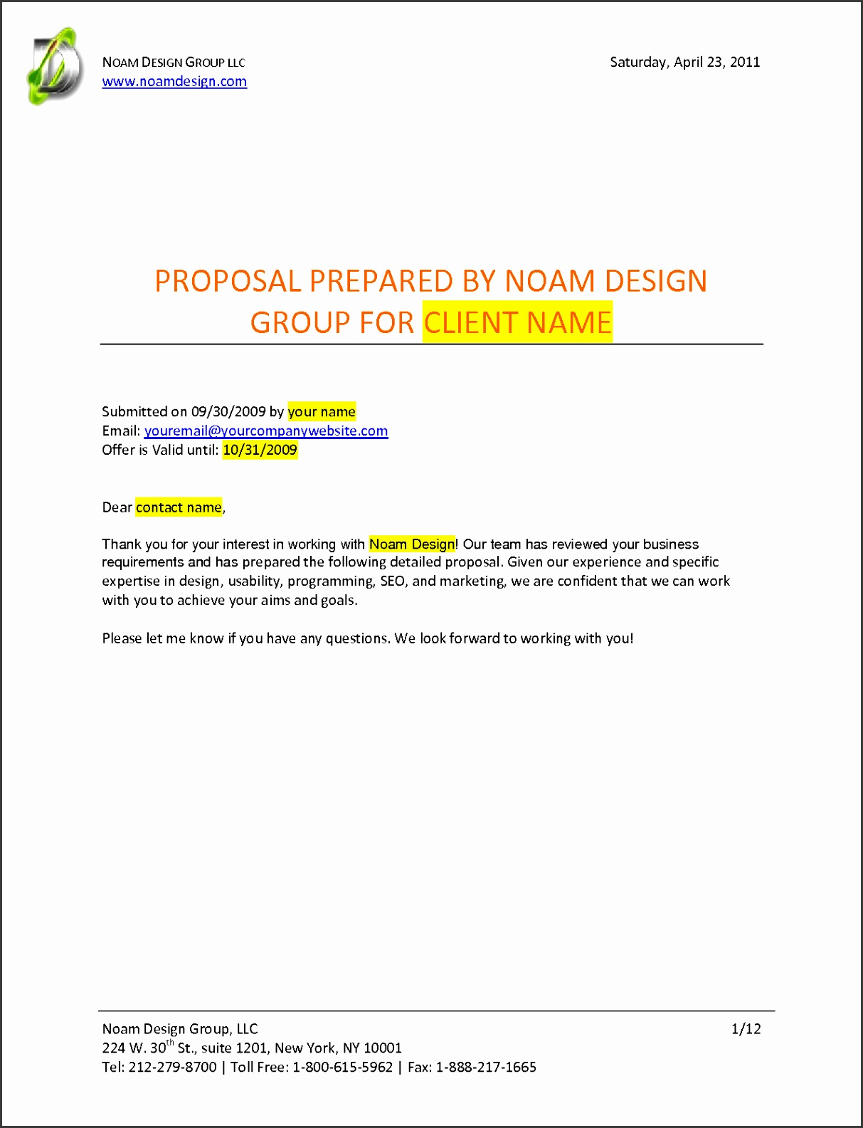 Graphic Design Freelance Contract Template With 8 Graphic Design Proposal Template Timeline Template And Standard Form