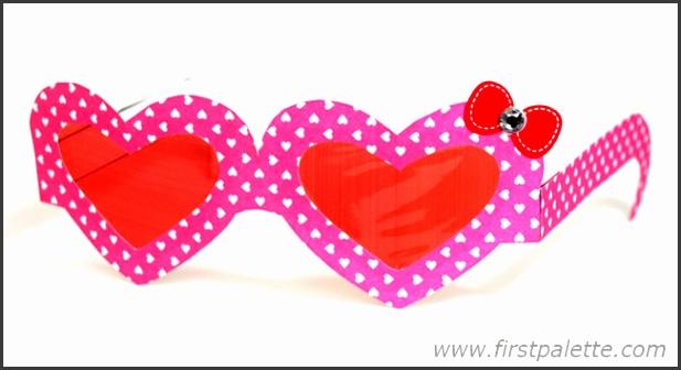 Heart Shaped Paper Eyeglasses
