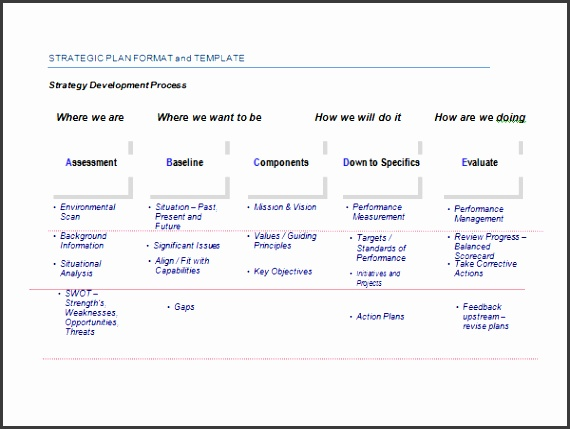 Sample Strategic Plan Template