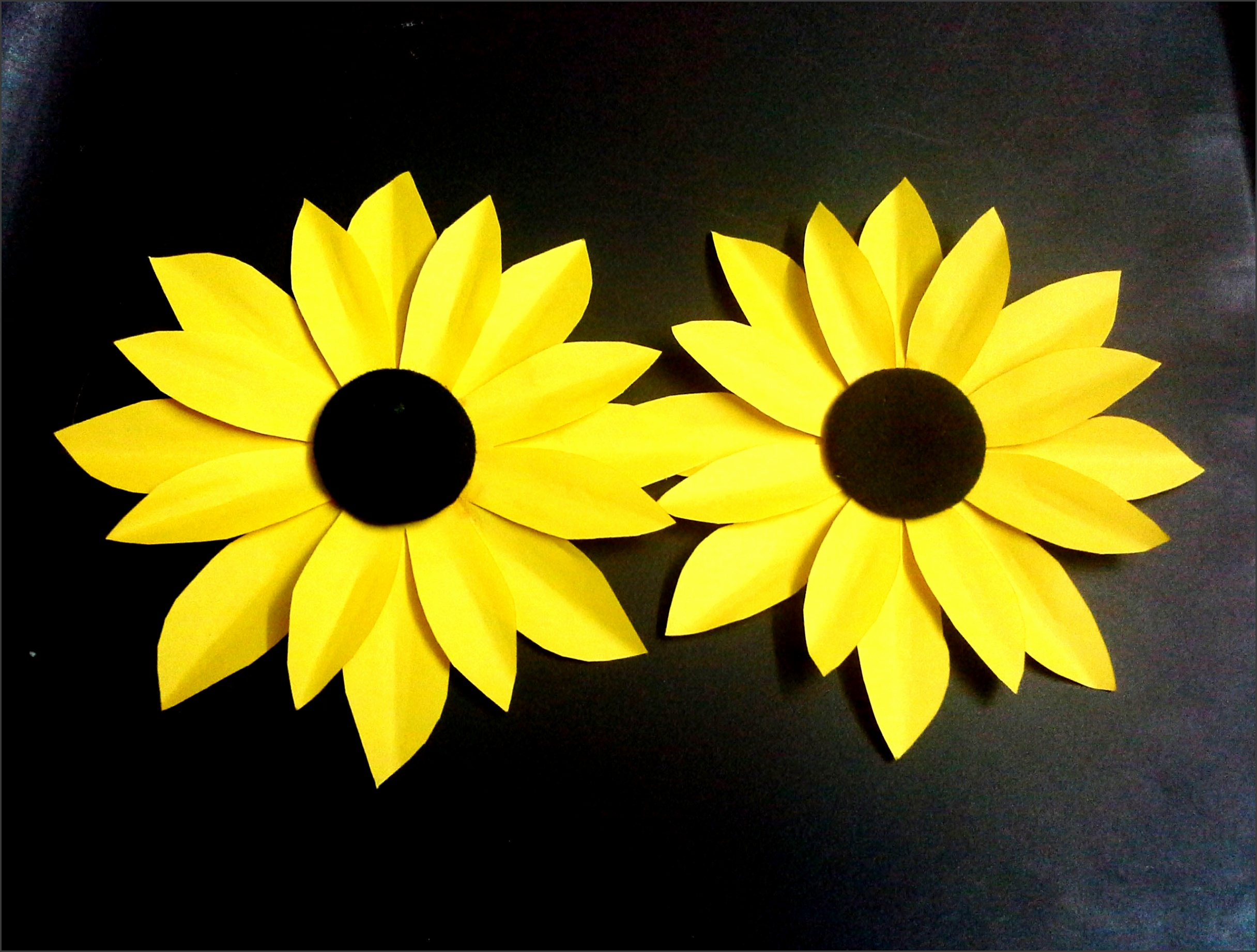 how to make a paper flower tutorial sunflower paper crafts
