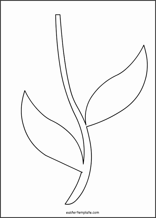 Flower Stem and Leaves Template