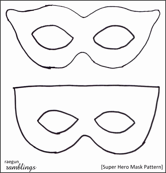Rae Gun Ramblings Super Hero Mask Pattern and Tutorial