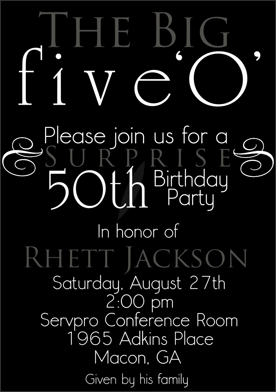 nice The 50th Birthday Invitation Template Free Templates