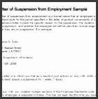 Suspension Letter Template