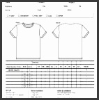 6 T Shirt Order Form Template Excel