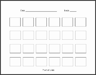 classroom seating chart template
