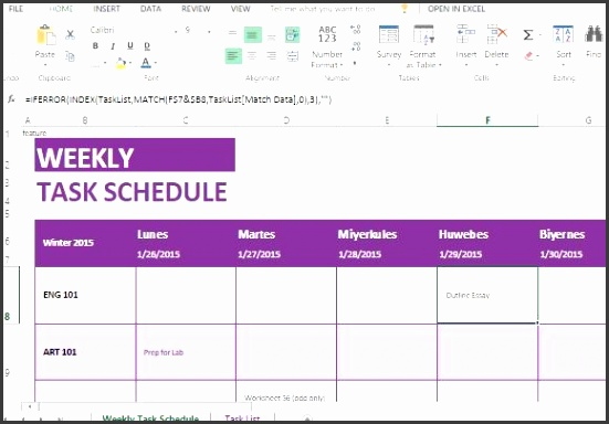 create a clean weekly schedule and be on