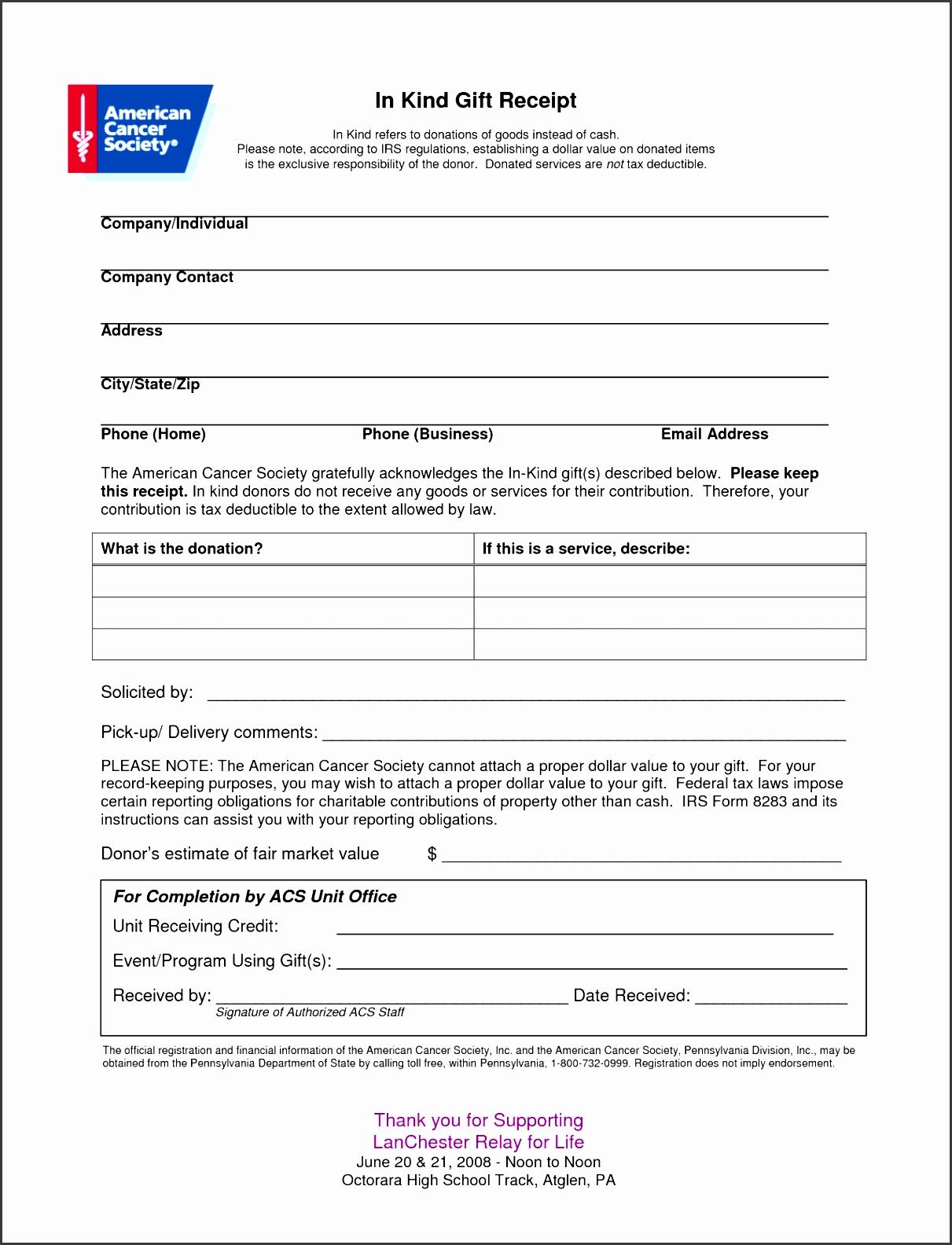 6 Tax Donation Receipt Template - SampleTemplatess - SampleTemplatess