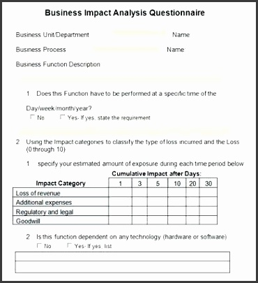 requirements gathering template business requirements questionnaire template business impact analysis 4 documents in word business