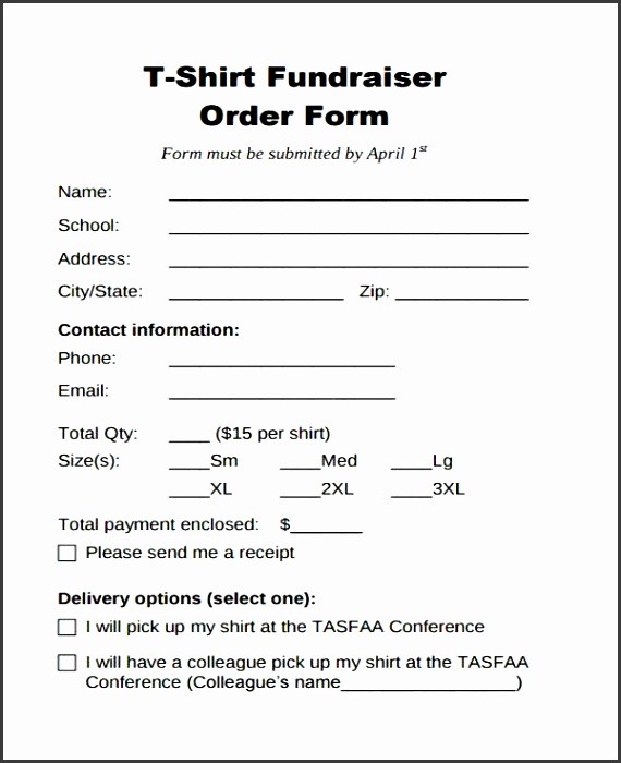 Blank Order Forms