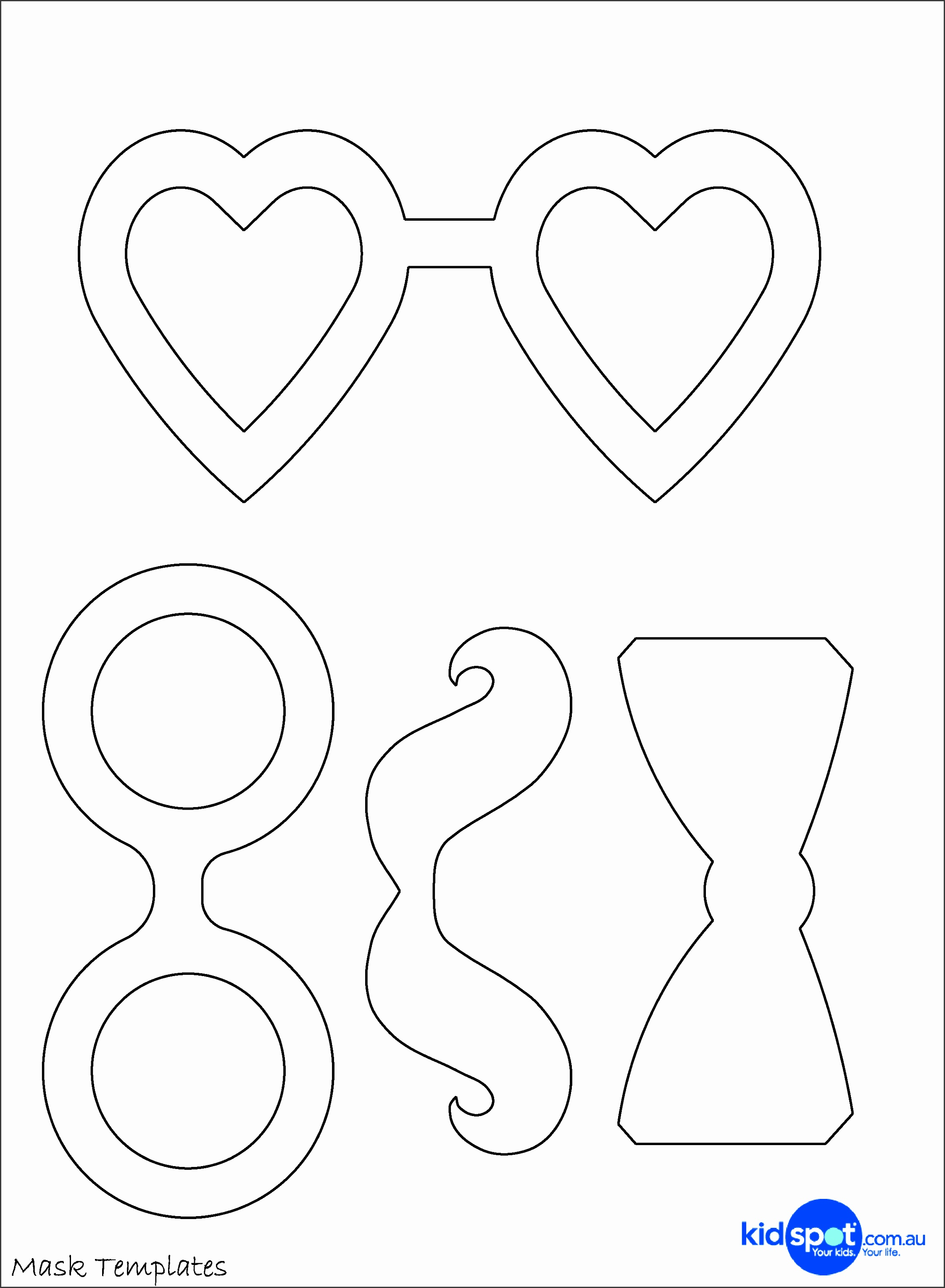 16 s of Paper Masquerade Mask Template