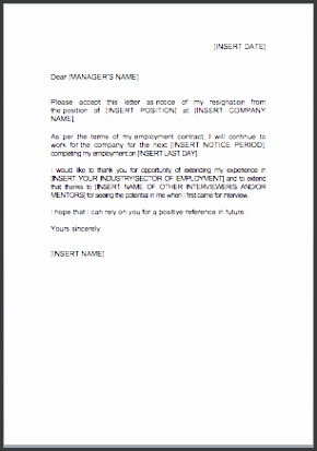 Download our resignation letter template