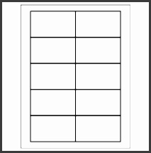 avery card template