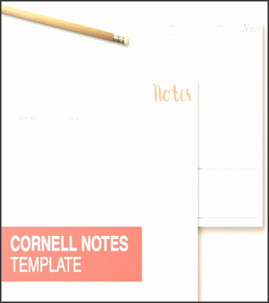 Cornell Notes Template – Printable