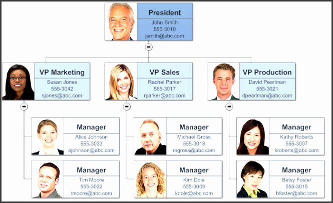 SmartDraw is more powerful and flexible than Word for professional org charts