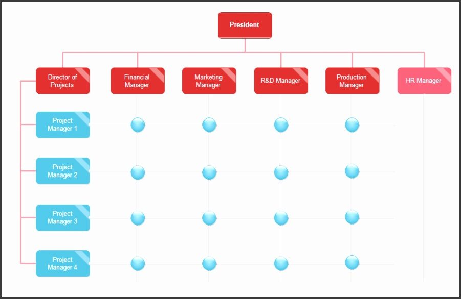 matrix org chart example Template 2