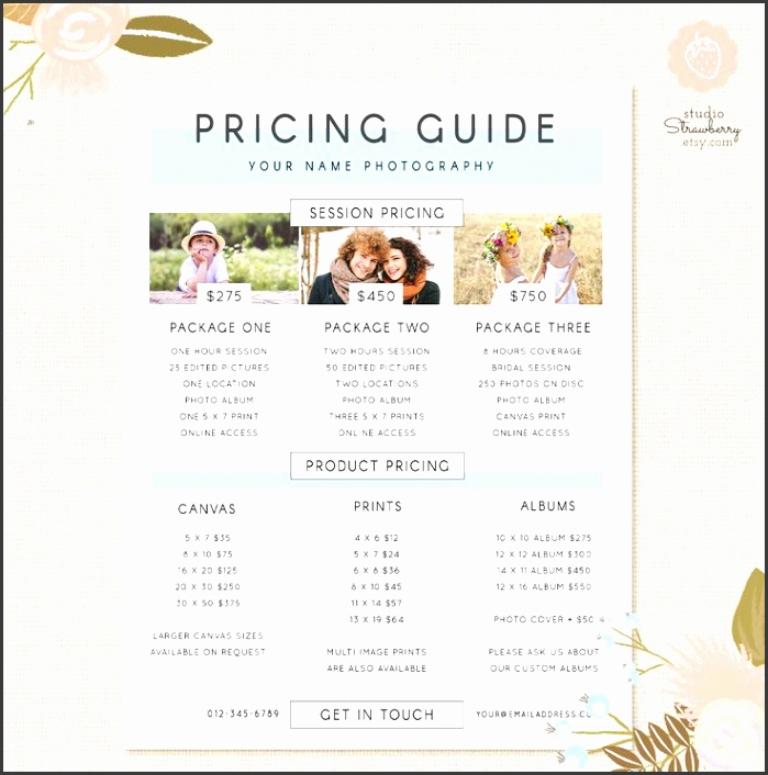 graphy Pricing Template Pricing Guide by StudioStrawberry