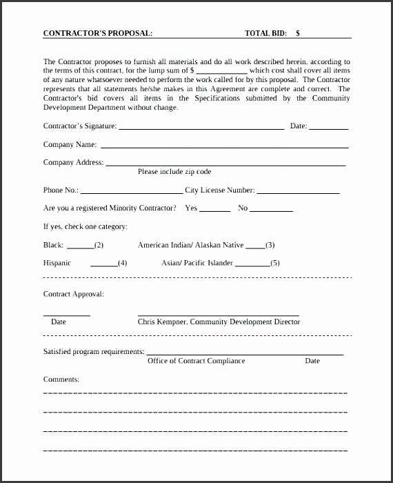 free construction proposal template proposal for contract work template contractor proposal template 7 free construction bid