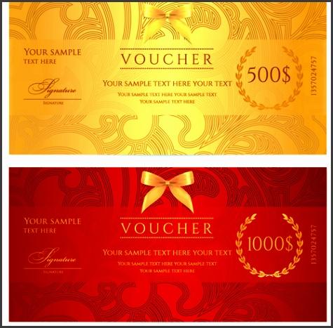 Exquisite vouchers template design vector set 05