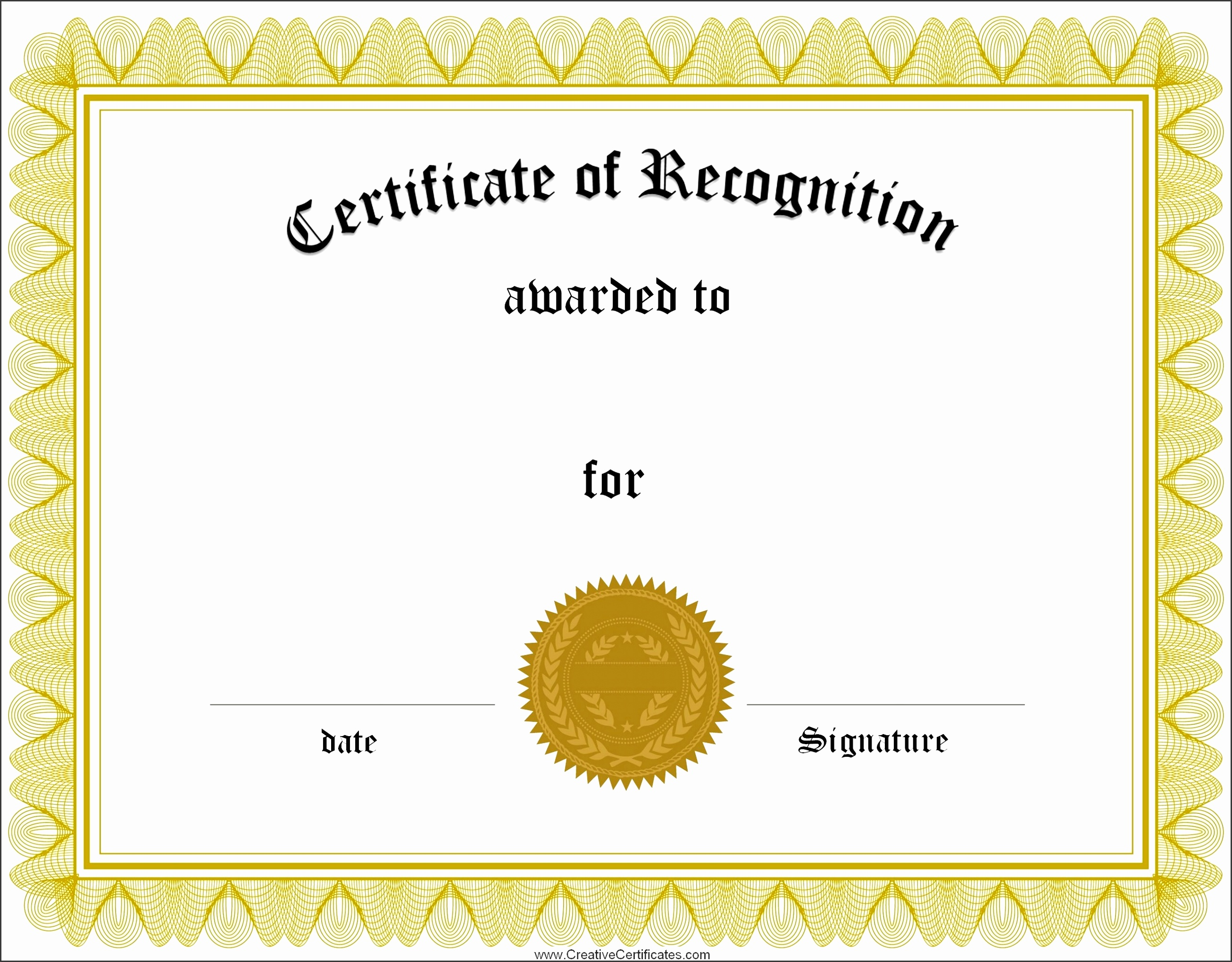 Collection solutions Free Certificate Recognition Template for Your Printable Certificate Recognition