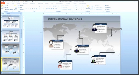 Org Chart Ppt Template Tomiumfo