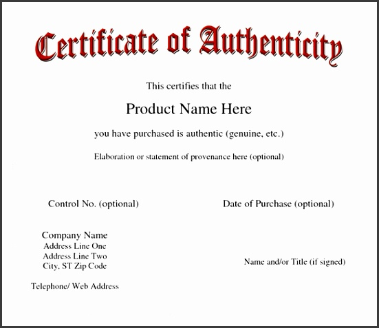 certificates of authenticity templates certificate of authenticity autograph template imts2010 templates