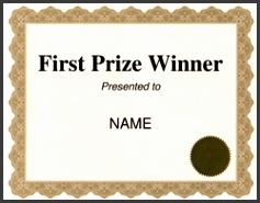 First Prize Winner Certificate Free Template Image Geographics M