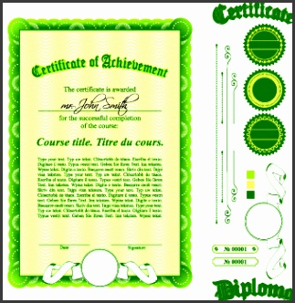 diploma certificate template and ornaments vector