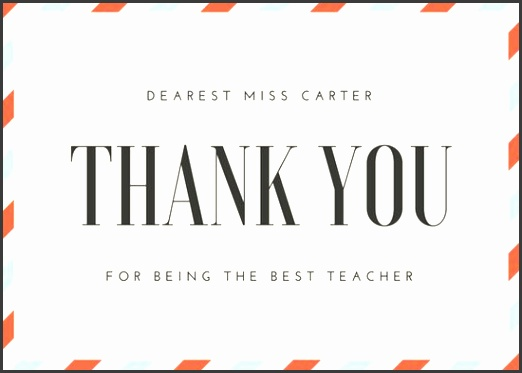 Airmail Teacher Thank You Card