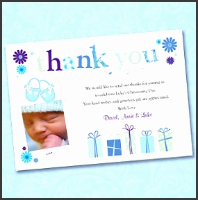 Personalised Boy Christening Thank You Cards Baptism Invitations Very Cute Baby Gift Special Day